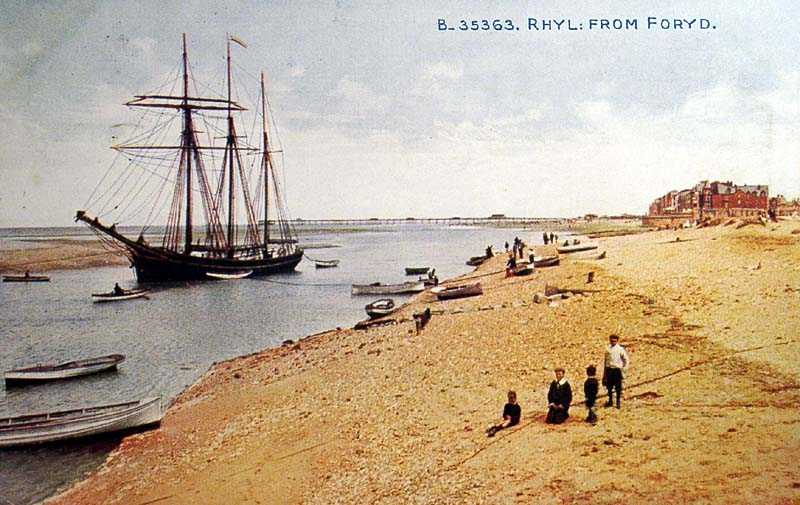 Rhyl, from Foryd Harbour 1916