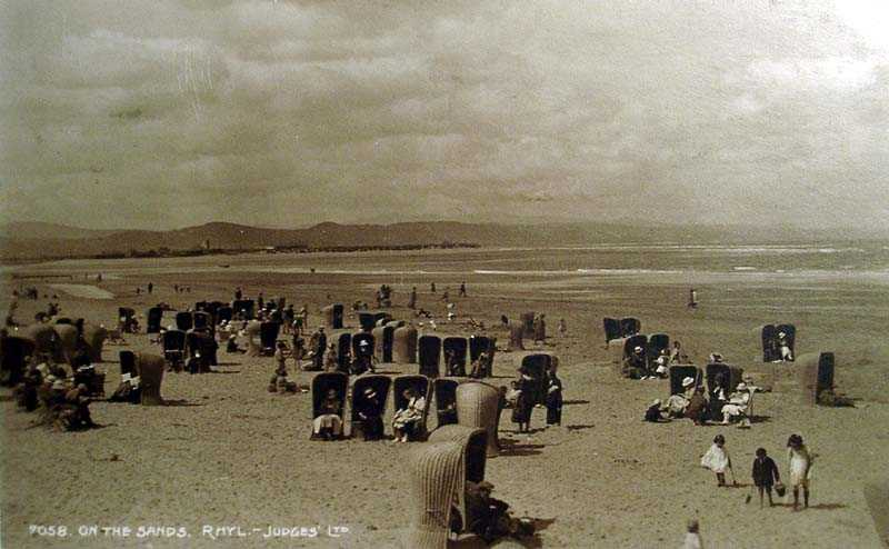 Rhyl, on the Sands with seats of wicker