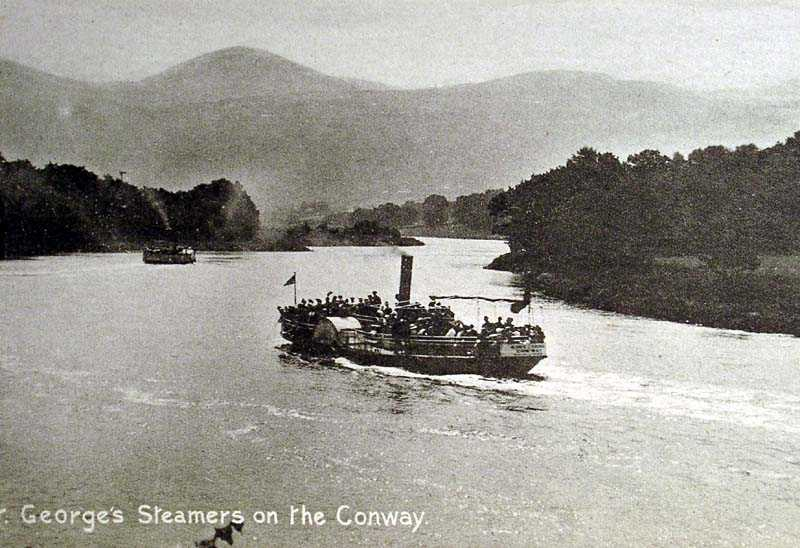 Conway, George's Steamer on the River Conwy