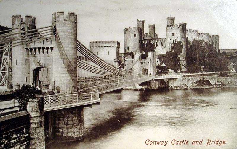 Conwy Castle and Bridge in 1905
