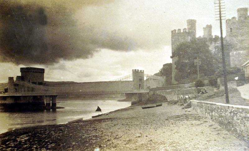 Conwy Castle and Bridge in 1922