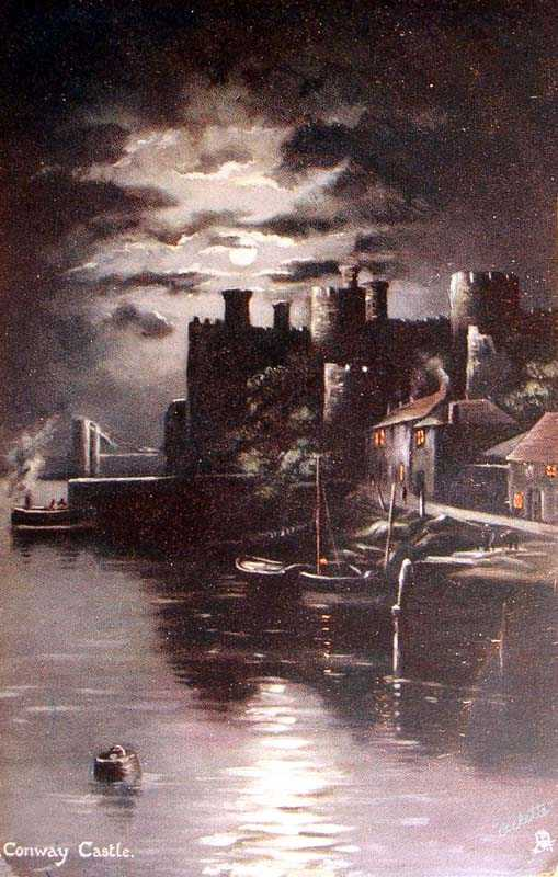 Conwy Castle by Night in 1907