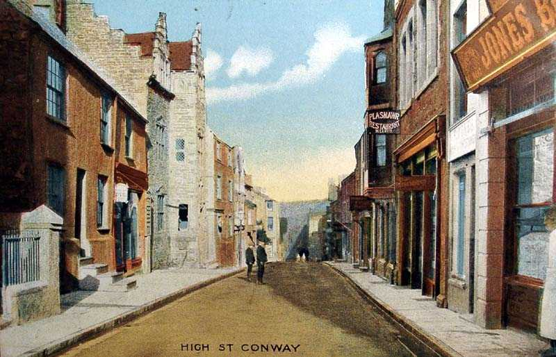 Conwy High Street in 1925