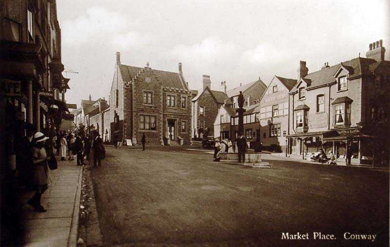 Conwy Market Place in 1938