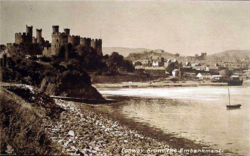 Conwy from the Embankment in 1918