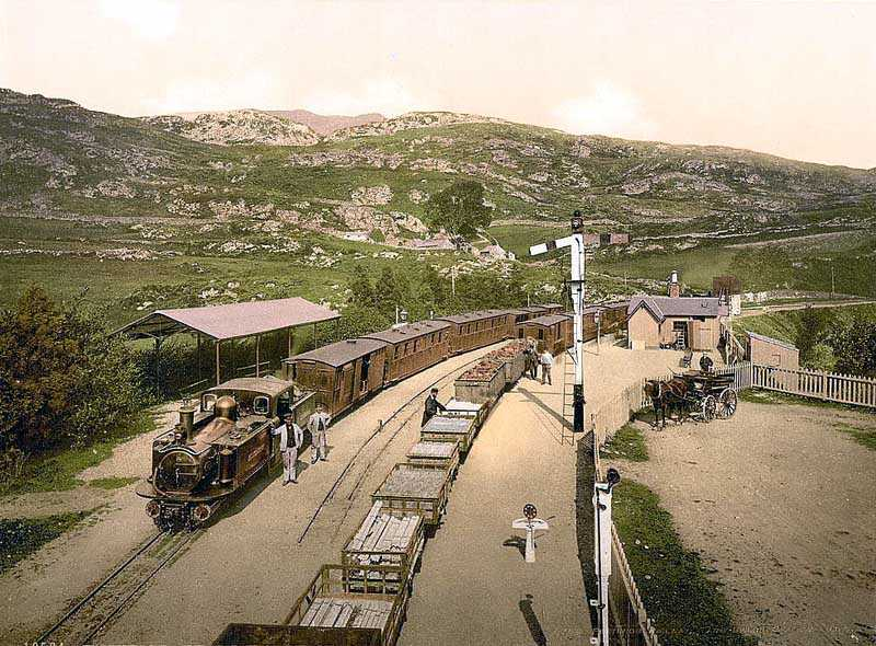 ffestiniog railway tan y bwlch old photo from the late 1890's