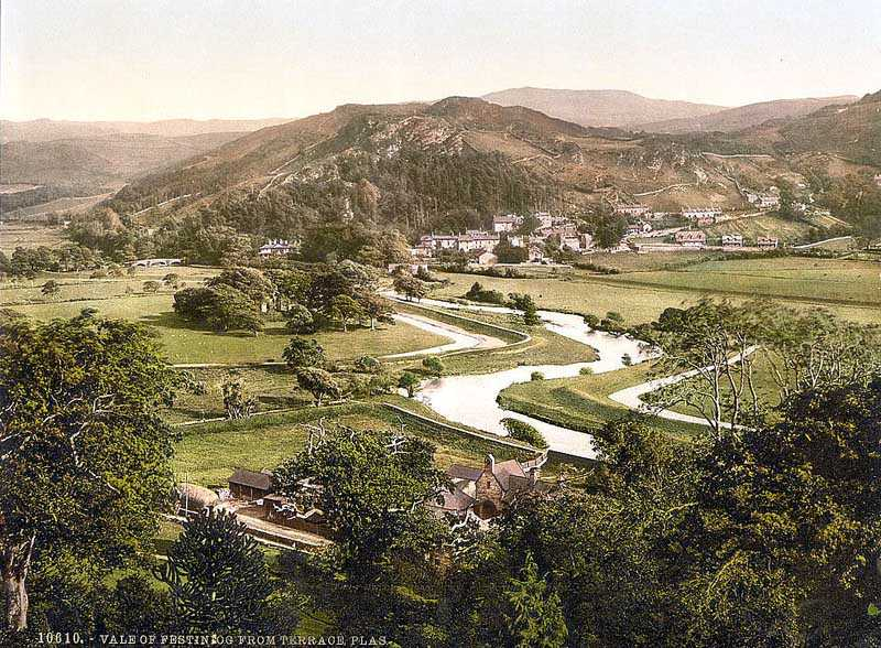 ffestiniog vale of ffestiniog from plas terrace old photo