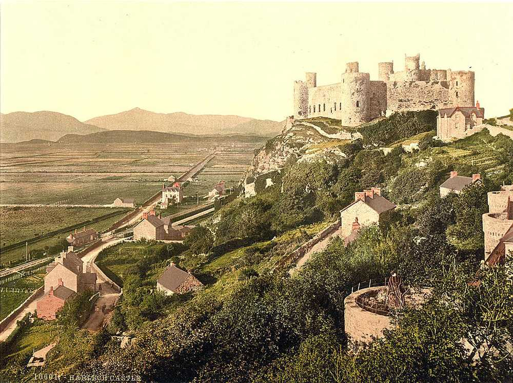 harlech castle in the 1890's