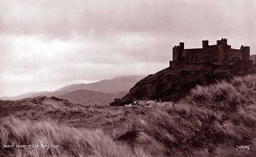 harlech castle in the 1910's