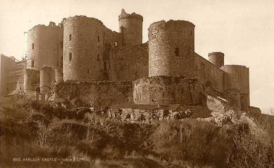 harlech castle in the mid 1920's