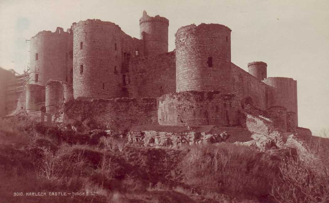 harlech, the castle old photo