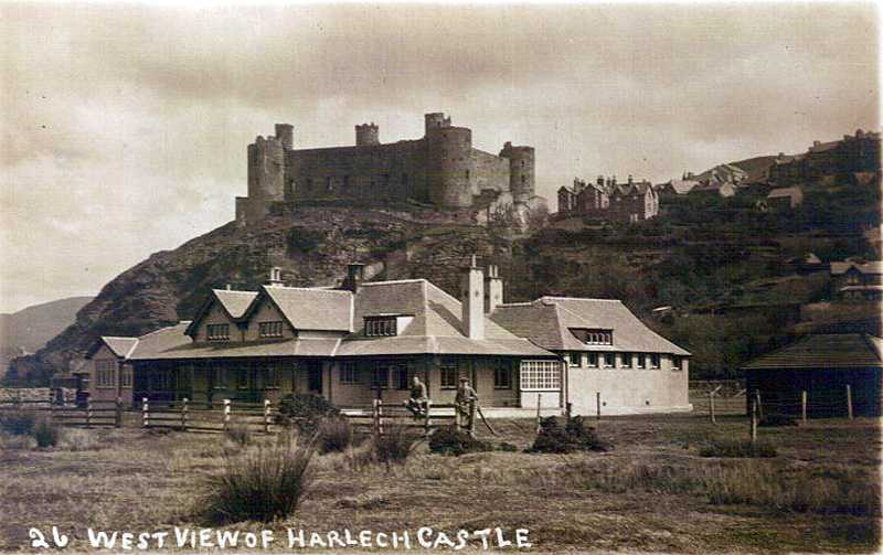harlech, west view of the castle in times past