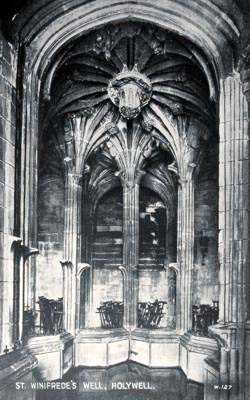 Holywell St Winifred's Well old photo of the interior