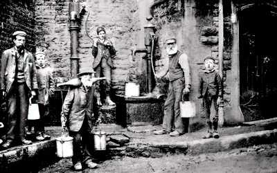 Holywell Water Carriers Rofft Top Well old photo