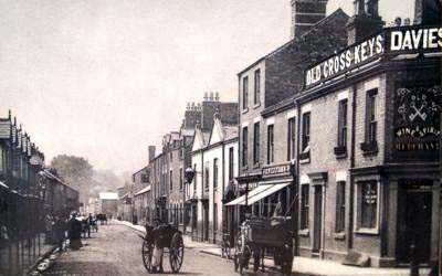Mold New St Old Cross Keys Pub c1900