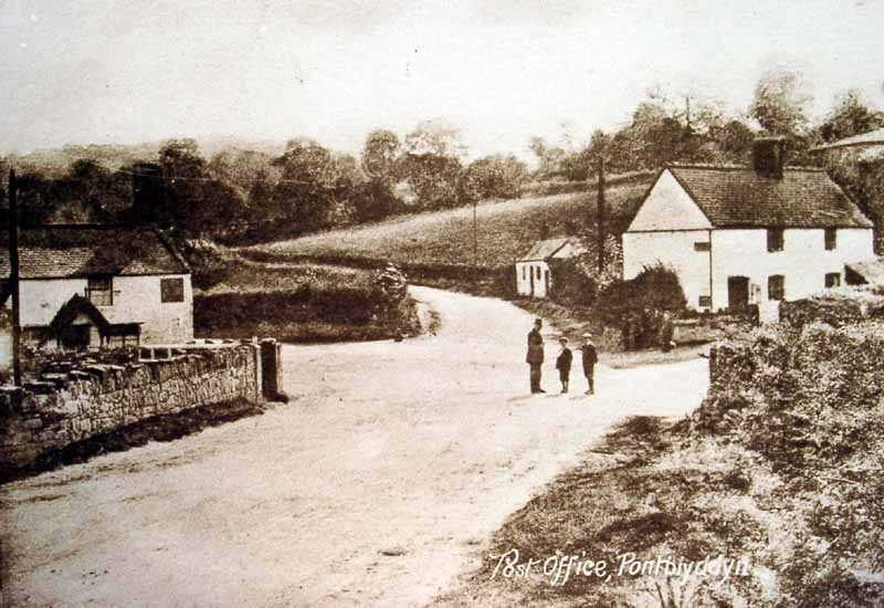 pontblyddyn post office old photo