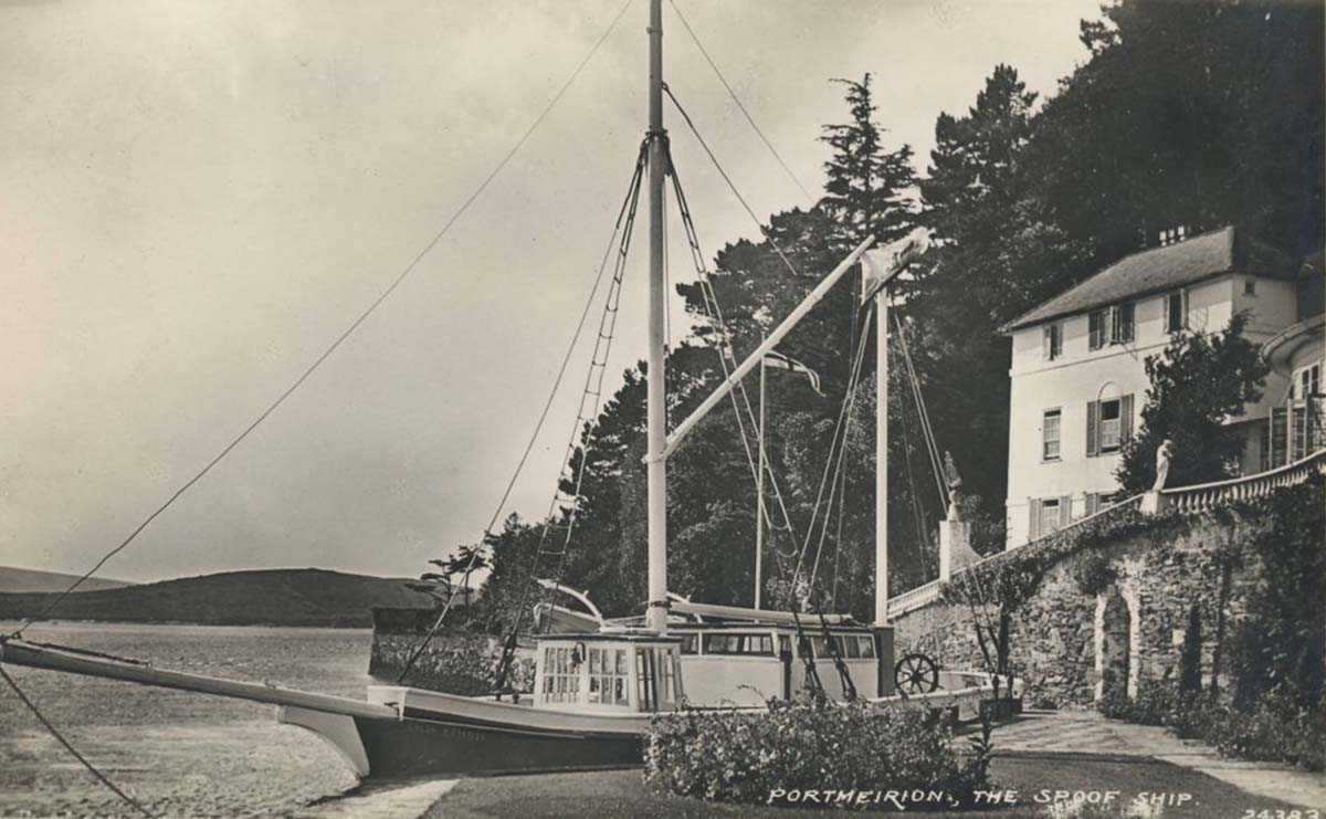portmeirion, the spoof ship