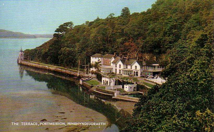 portmeirion, the tennis courts old photo