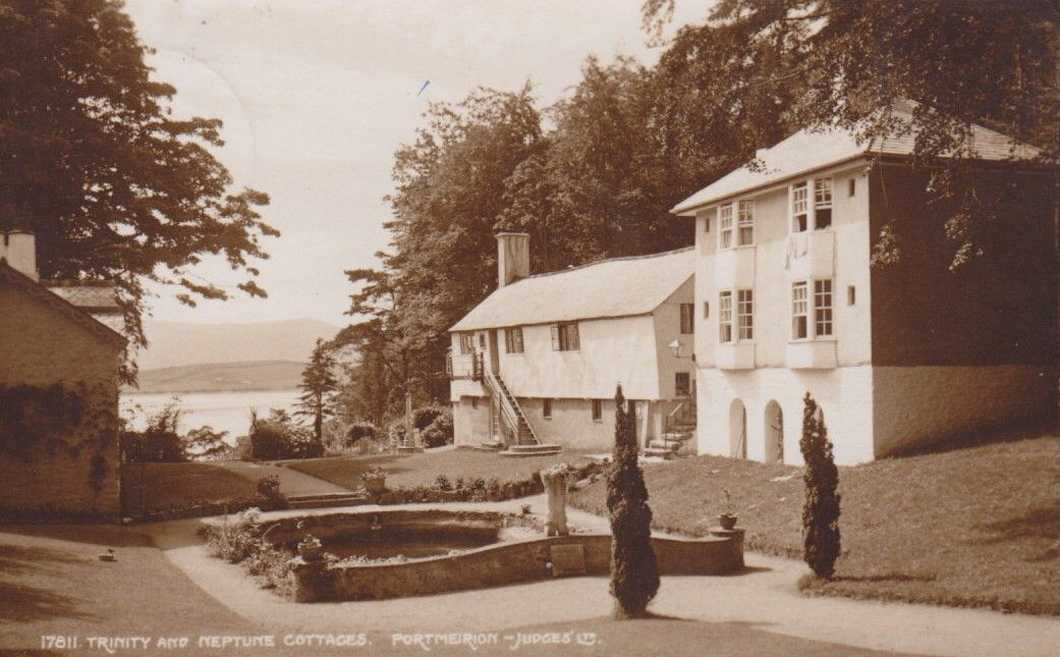portmeirion, trinity and neptune cottages in past times