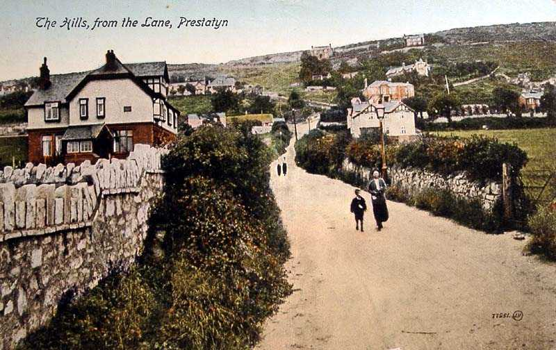 Prestatyn, The Hills from the Lane old photo