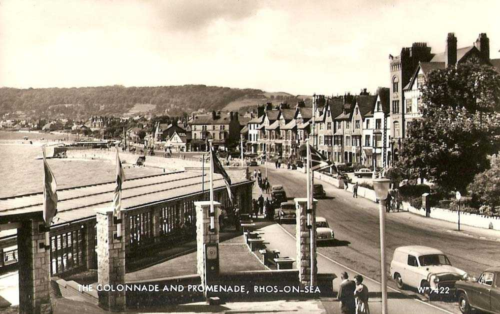 Rhos on Sea Colonnade and Promenade in the mid 1950's
