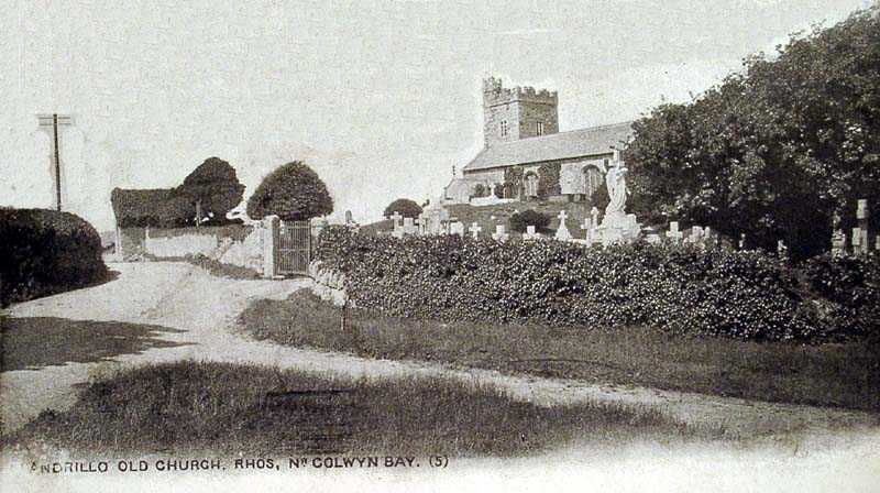 Rhos on Sea Llandrillo Old Church 1904