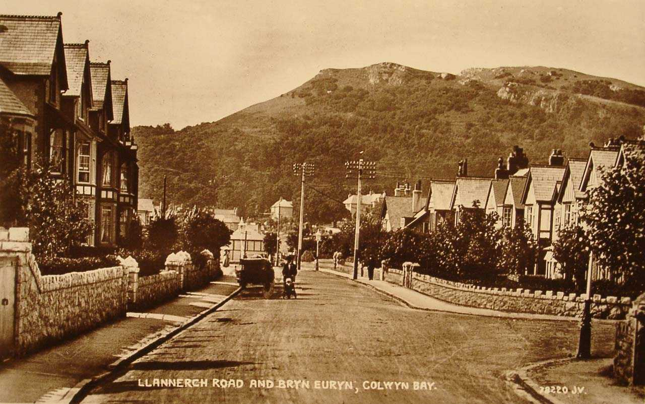 Rhos on Sea Llanerch Road old photo in 1906