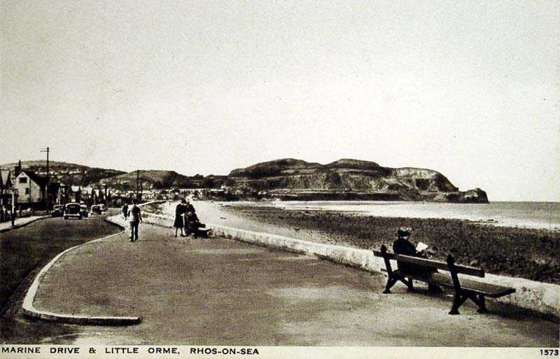 Rhos on Sea Marine Drive and Little Orme 1949
