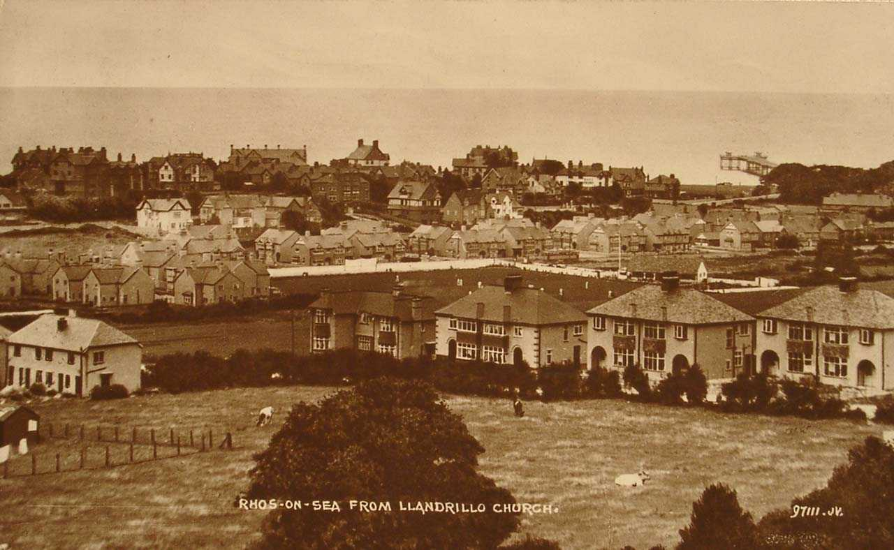 Rhos on Sea from Llandrillo Church in 1927