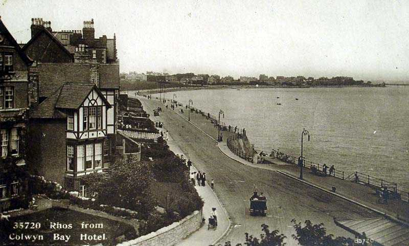 rhos on sea from the colwyn bay hotel