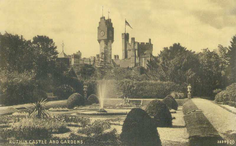 ruthin castle and gardens in times past