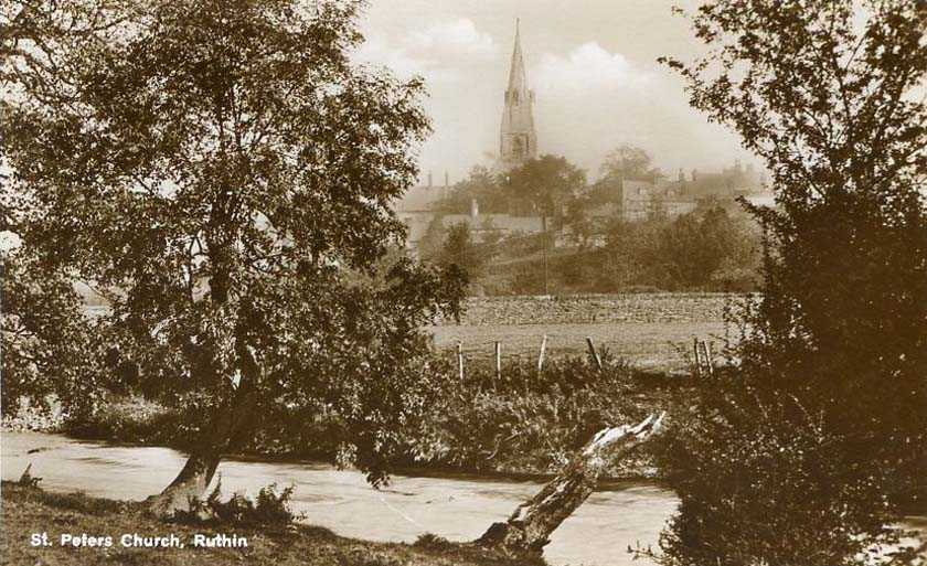 ruthin, st peter's church old photo
