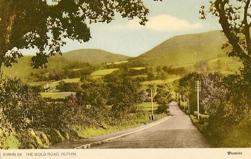 ruthin, the mold road in the 1950's