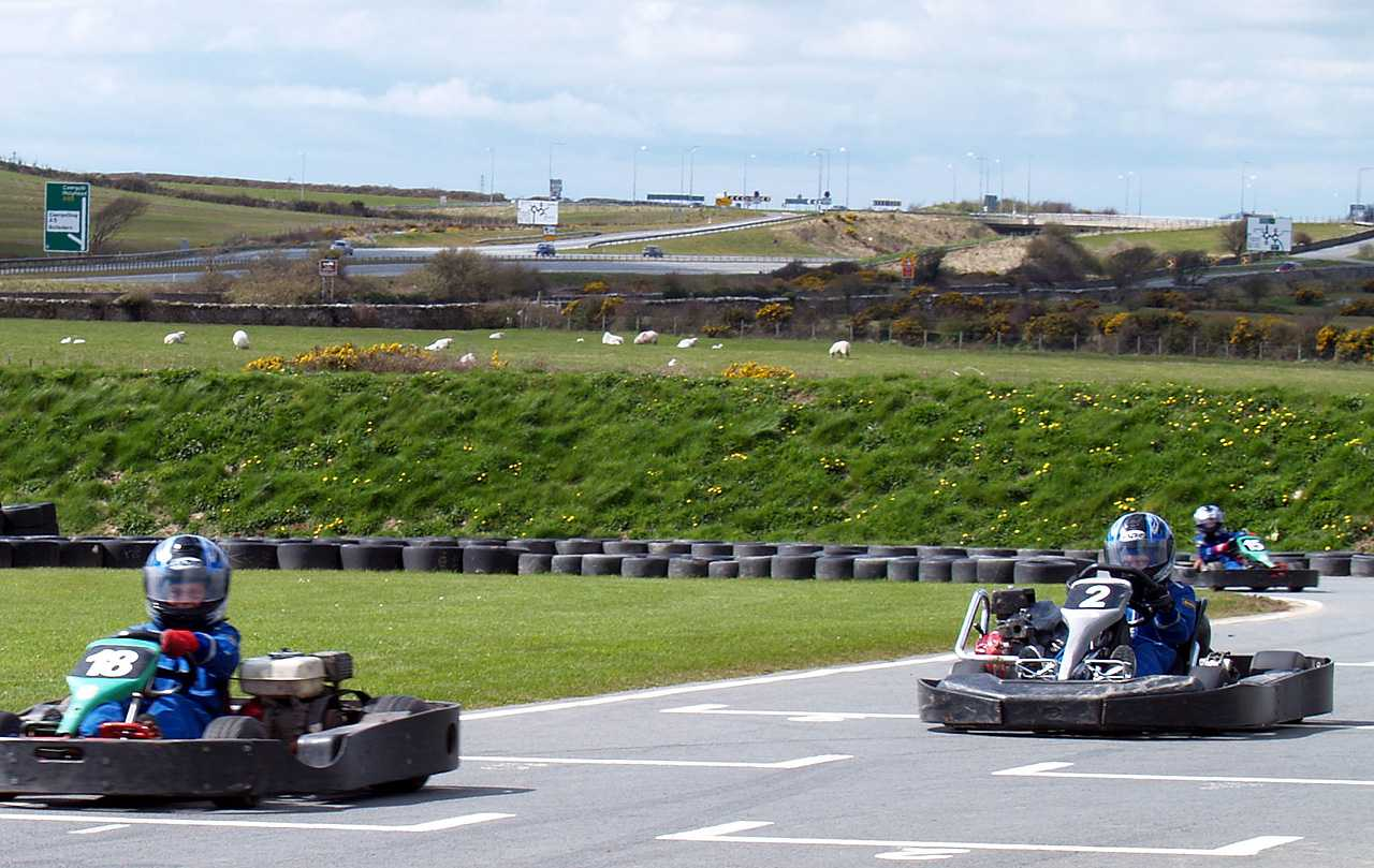 The race is on at Anglesey Go Karting