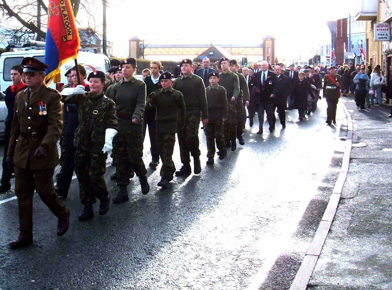 Anglesey, Holyhead, Remembrance Sunday 2006 - Army Cadet Corps