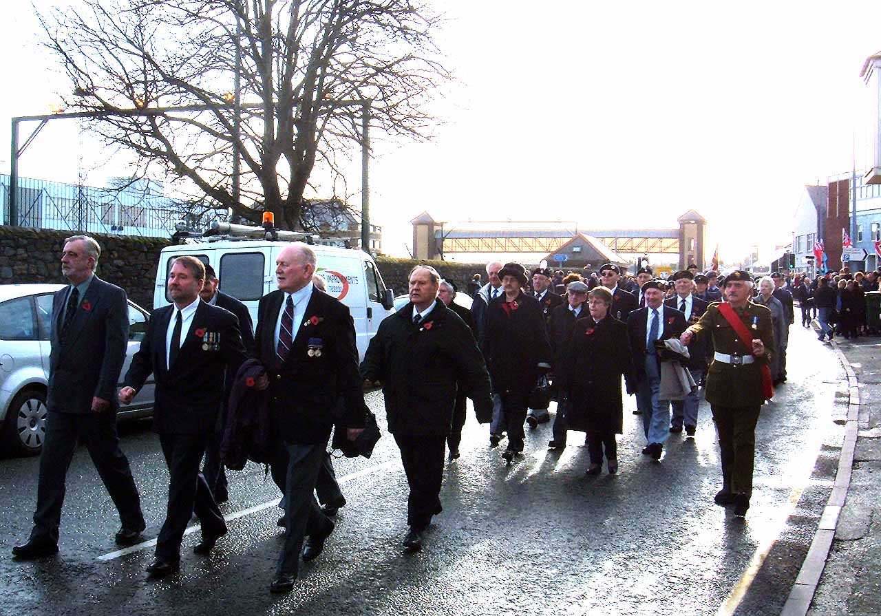 Anglesey, Holyhead, Remembrance Sunday 2006 - British Legion and Veterans Marching
