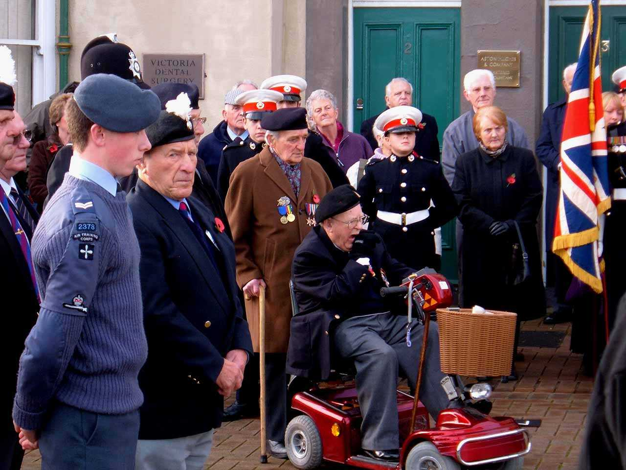 Anglesey, Holyhead, Remembrance Sunday 2006 - Holyhead Veterans