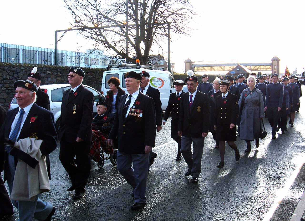 Anglesey, Holyhead, Remembrance Sunday 2006 - Parade