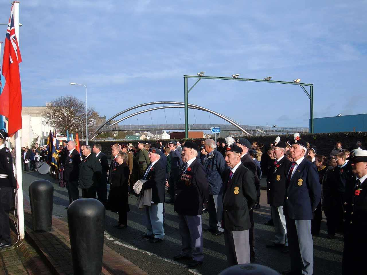 Anglesey, Holyhead, Remembrance Sunday 2006 - Veterans on Parade