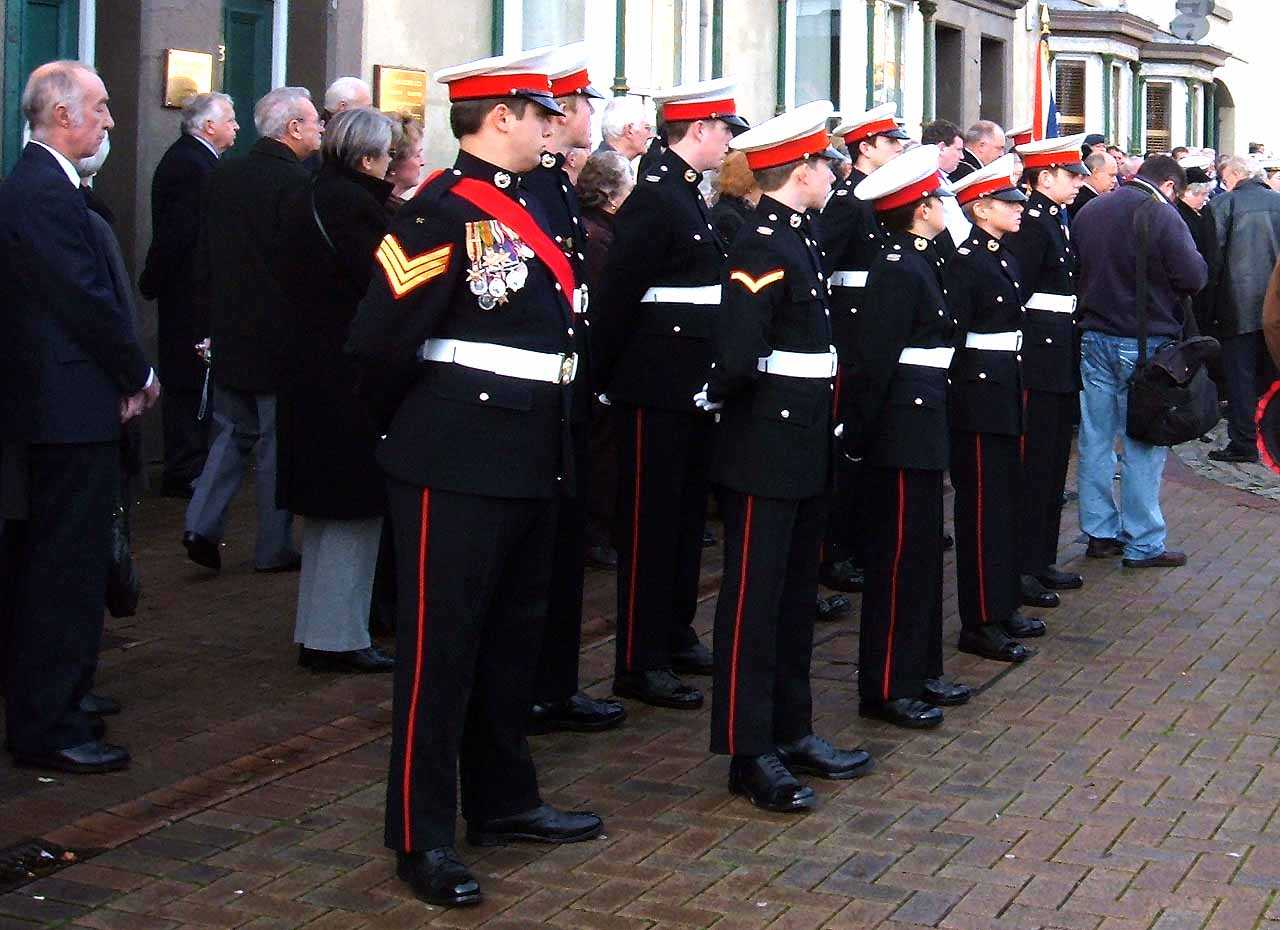 Anglesey, Holyhead, Remembrance Sunday 2006 - Young Men in Uniform