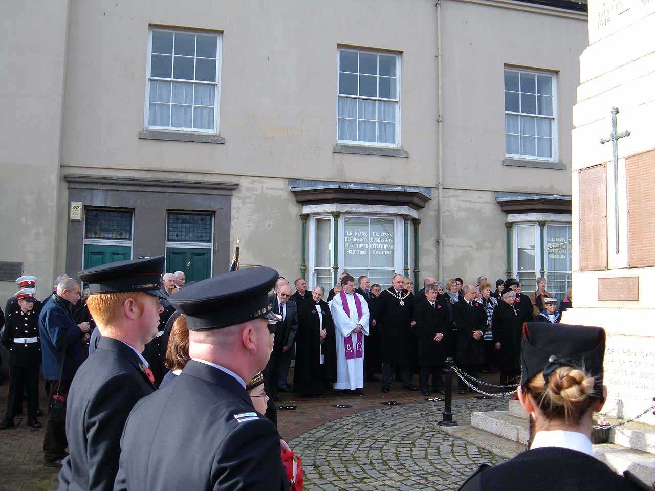 Anglesey, Holyhead, Remembrance Sunday 2006 - including Mark Wade of the Fire Service