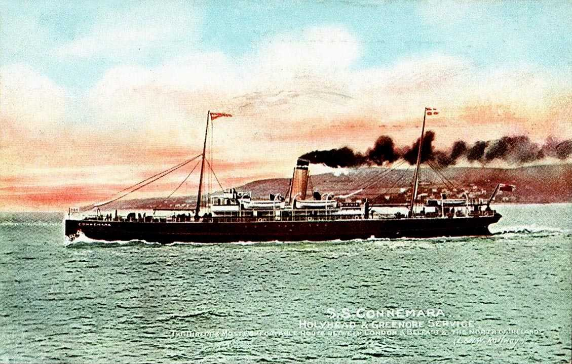 Anglesey, Holyhead, SS Connemara - on the Greenore Service