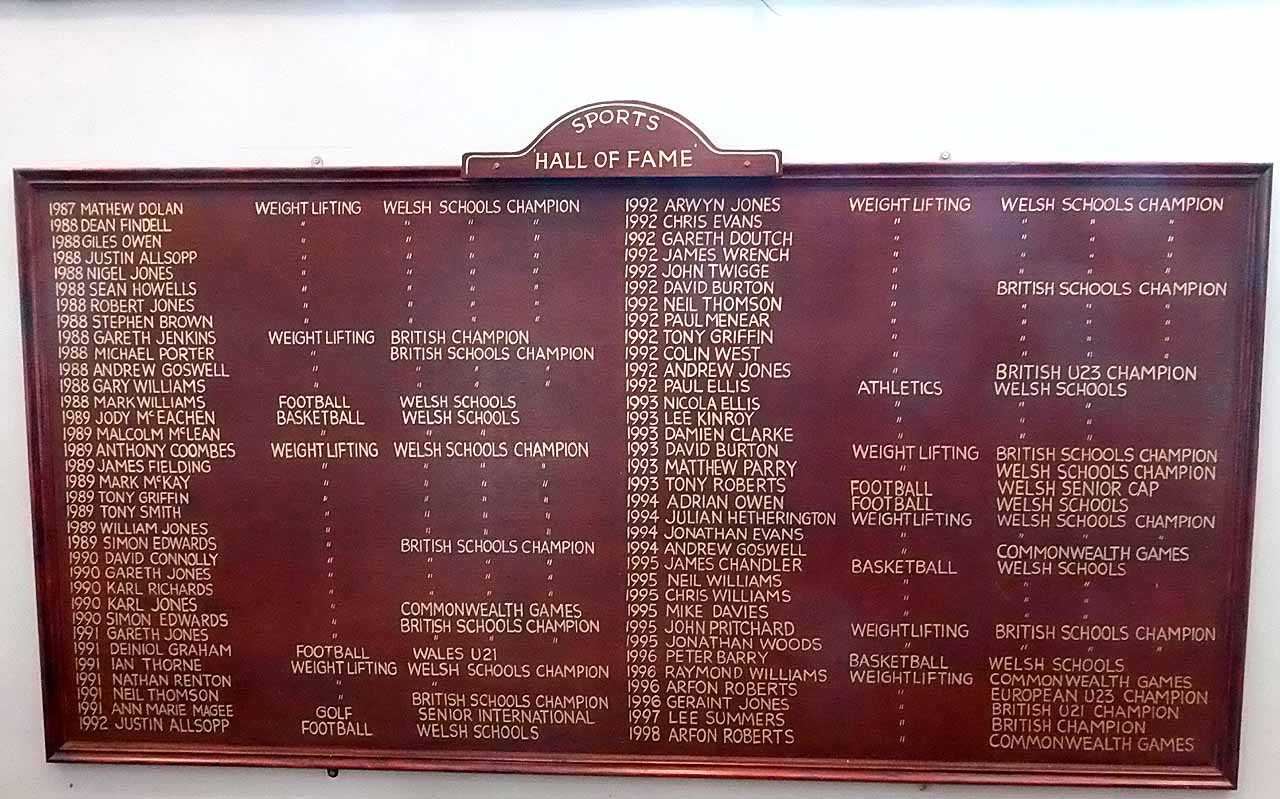 Holyhead, Secondary School Hall of Fame 2