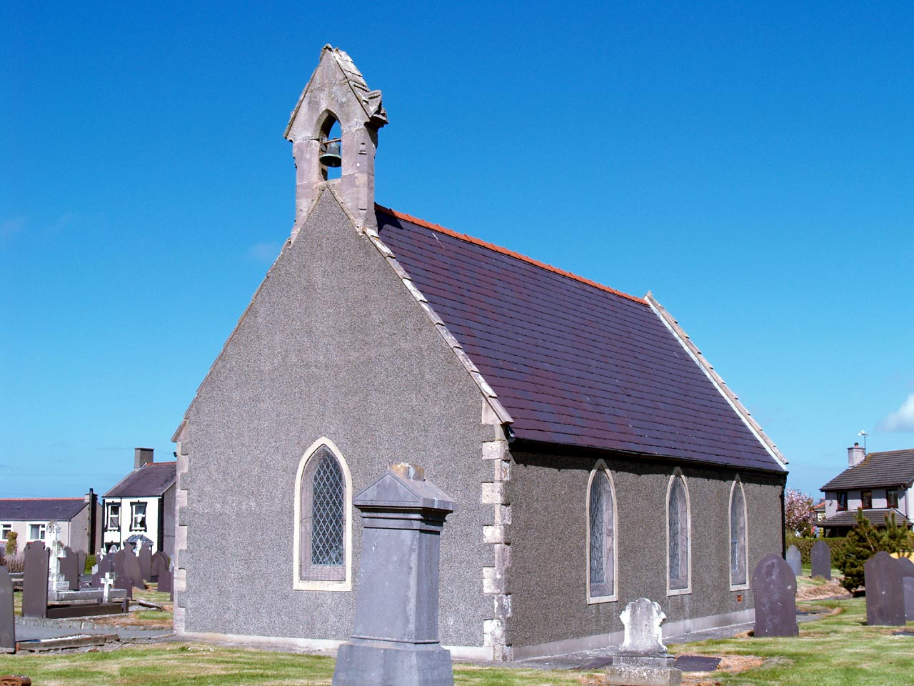 Anglesey, Holyhead, Maeshyfryd Church in May 2013