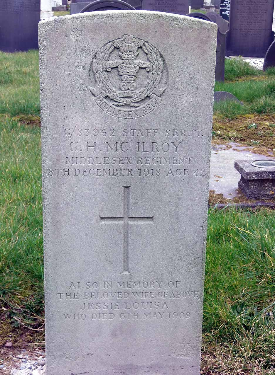 GH McIlroy Staff Sergeant died in 1918 aged 42