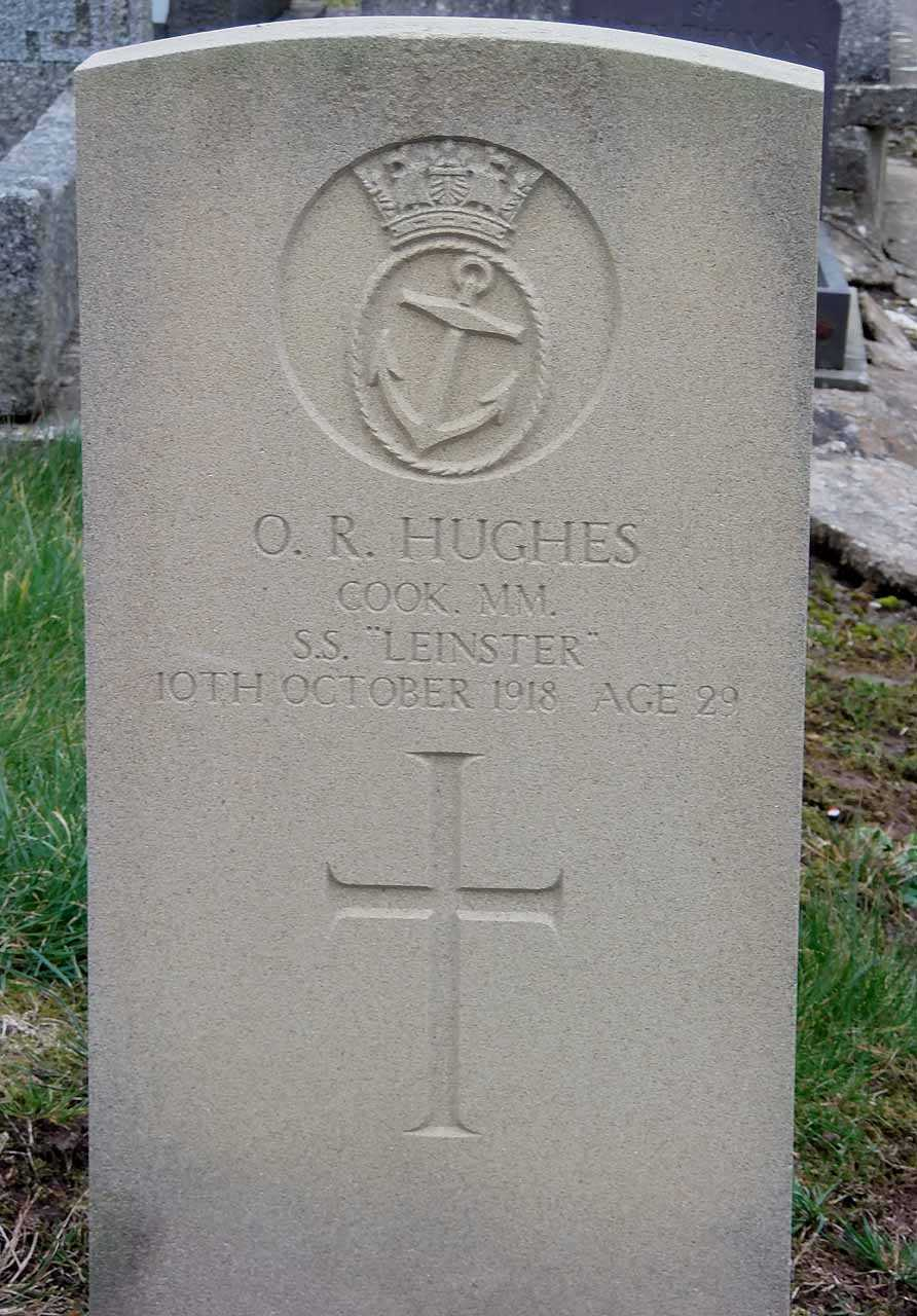 Owen Richard Hughes MM - killed aboard SS Leinster in 1918 aged 29