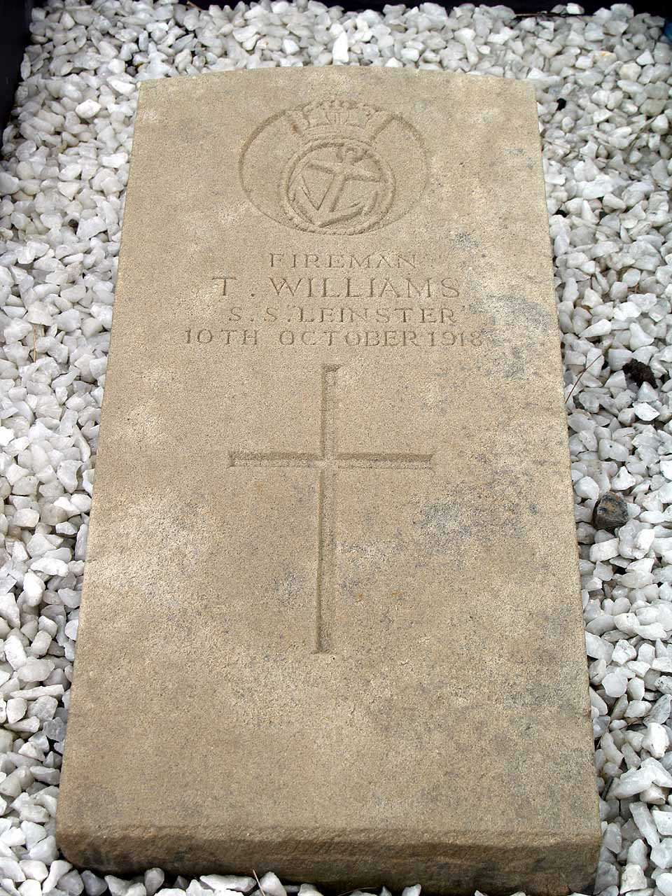 Thomas Williams - Fireman lost on the SS Leinster in 1918 - aged 65