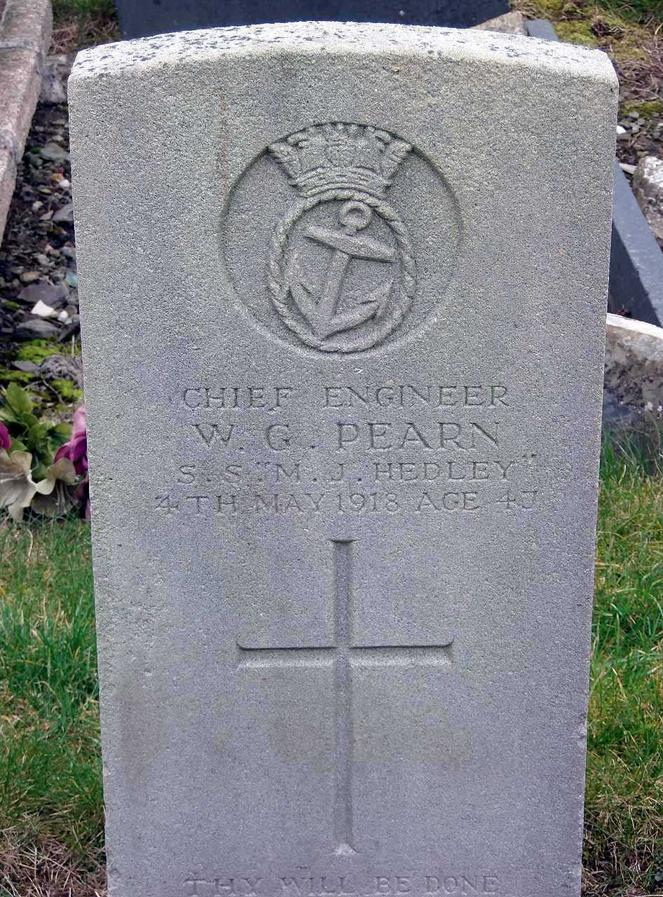 William George Pearn Died onboard the S.S. M.J. Hedley in 1918 aged 47