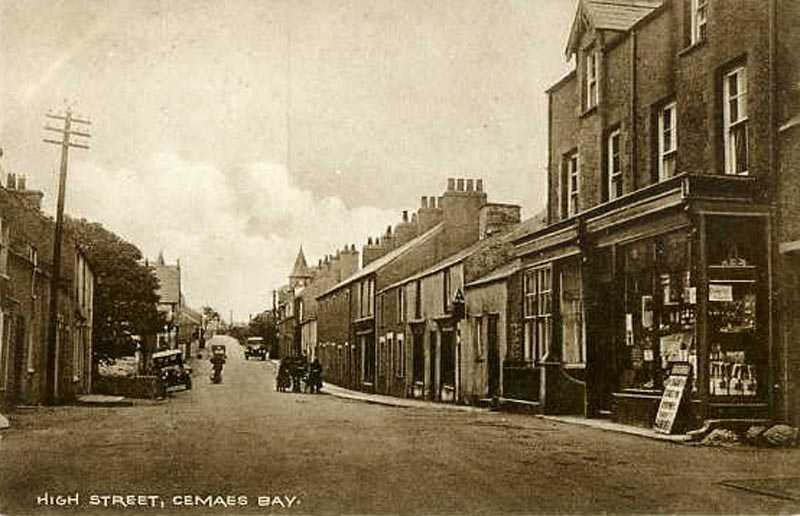 Cemaes Bay - High Street 1915