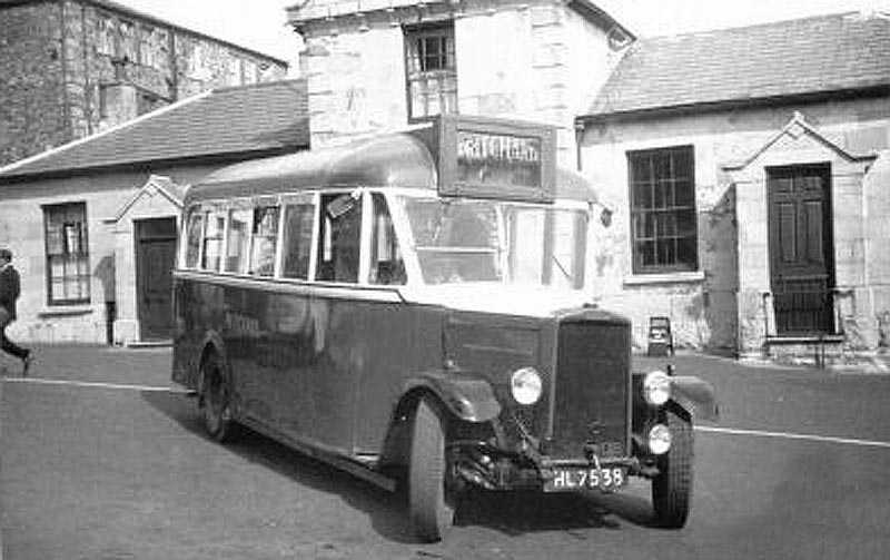 A Pritchards Bus outside the Harbour Office in Caernarfon